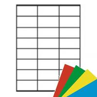 Etichette adesive A4 Colorate