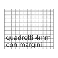 Quaderno A4 quadr. 4mm con margini (4F)