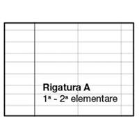 Quaderno A4 righe 1 e 2 elem. (A)