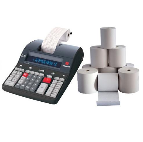 Rotoli carta per calcolatrici scriventi