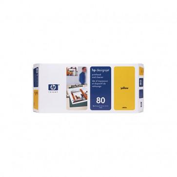 Originale HP C4823A Testina di stampa dye + dispositivo di pulizia 80 giallo