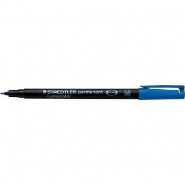 Penna a punta sintetica Lumocolor Permanent Staedtler blu superfine 0,4 mm 313-3