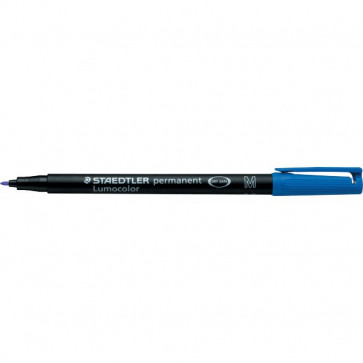 Penna a punta sintetica Lumocolor Permanent Staedtler blu media 1 mm 317-3