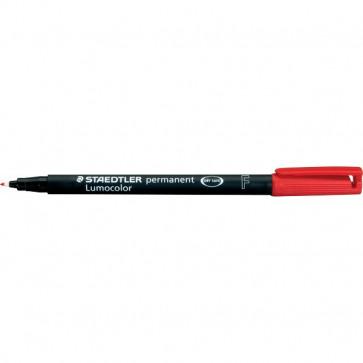 Penna a punta sintetica Lumocolor Permanent Staedtler rosso fine 0,6 mm 318-2