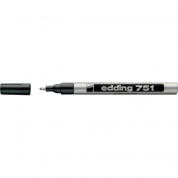 Marcatore permanente a vernice Edding argento tonda 1-2 mm 751 054