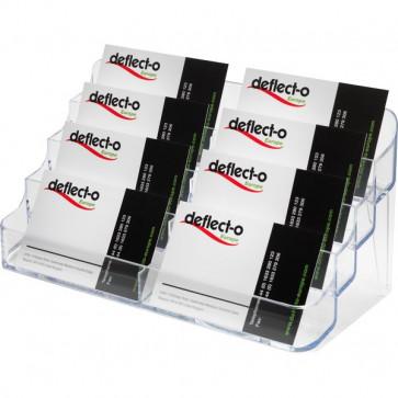 Portabiglietti da visita da tavolo Deflecto trasparente 8 scomparti DE70801