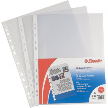 Buste perf. univers. Copy Safe Esselte Office 30x42 cm goffrata antiriflesso 552310 (conf.50)