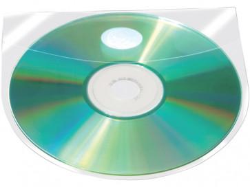 Custodia per CD/DVD autoadesiva Q-Connect 12,6x12,6 cm trasparente conf. da 10 - KF27032