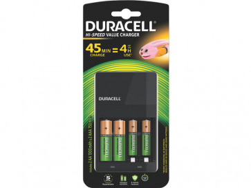 Caricabatterie Duracell Charger CEF 14 (4 ore) con 2 AA+2AAA Value n/a DU101