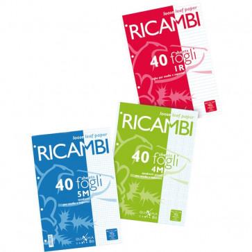 Ricambi bianchi per quaderni Pigna A4 1R 00629031R (conf.40)
