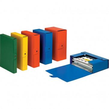 Scatole portaprogetti Eurobox Esselte Dorso 4 25x35 cm blu 390324050