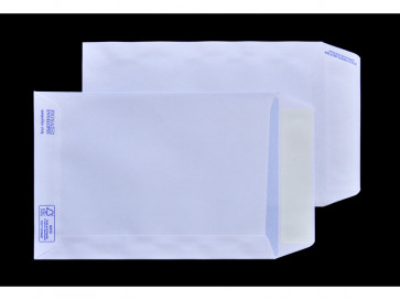 Buste a sacco bianche autoad. removibili Pigna Envelopes Competitor strip 100