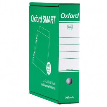 Busta a perforazione universale Esselte Office lucida 4 pack x 100-34,5x8x28,7 391098000 (conf.400)
