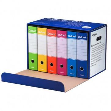 Registratori Esselte Oxford colori assortiti dorso 8 cm 390785110 (conf.6)