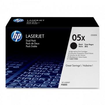 Originale HP CE505XD Conf. 2 Toner alta capacità 05X nero
