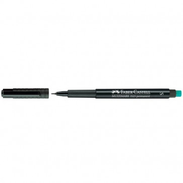 Marcatore permanente Multimark Faber Castell Punta media nero 1,0 mm 152599
