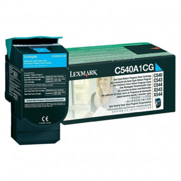 Originale Lexmark C540A1CG Toner return program ciano