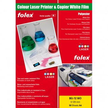 Film per stampanti laser e copiatrici Folex bianco lucido 125 my 29729.125.44100 (conf.50)