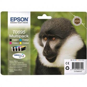 Originale Epson C13T08954010 Conf. 4 cartucce inkjet blister RS T0895 nero+ciano+magenta+giallo