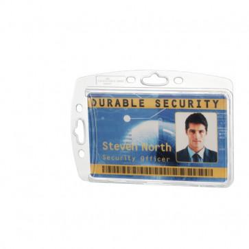 Portabadge rigido Durable senza clip 5,4x8,5 cm 8905-19 (conf.10)