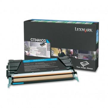 Originale Lexmark C734A1CG Toner return program ciano
