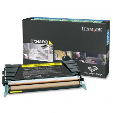 Originale Lexmark C734A1YG Toner return program giallo