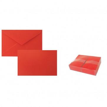 Biglietti e buste Ellebi Sadoch 9x14 cm rosso 8319R (conf.100)