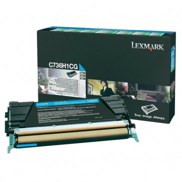 Originale Lexmark C736H1CG Toner alta resa return program ciano