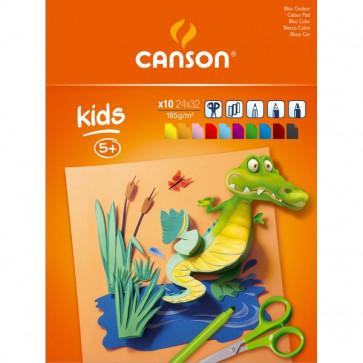 Blocchi da disegno per bambini Canson 24x32 cm 185g colorato 10 400015601