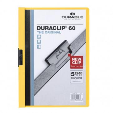 Cartellina Duraclip Durable 6mm Capacità 60 fogli giallo 2209-04