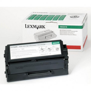 Originale Lexmark 08A0478 Toner alta resa return program nero