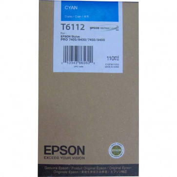 Originale Epson C13T611200 Cartuccia inkjet ink pigmentato ULTRACHROME T6112 ciano