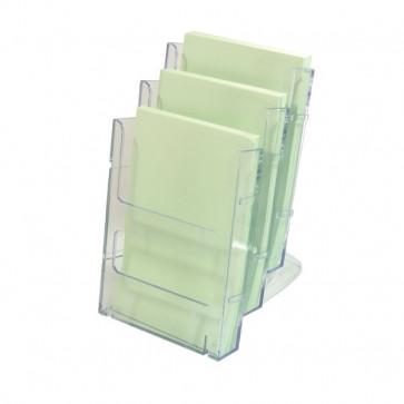 Portabrochure componibile Lit-Loc Deflecto A5 verticale 16x3x20,2 cm 772501EU