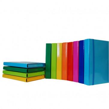 Cartelle portaprogetto con elastico in carta plastificata Euro-Cart 3 cm verde lime CPIRI03ELPVL