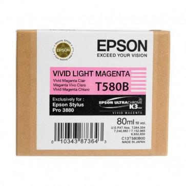 Originale Epson C13T580B00 Cartuccia inkjet ink pigmentato ULTRACHROME K3 T580B magenta chiaro vivido