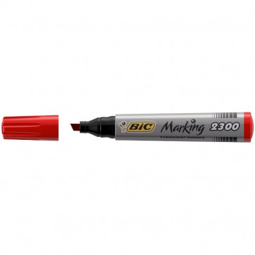Permanent Marker 2300 Bic rosso scalpello 3-5,5 mm 8209243 (conf.12)