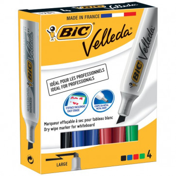 Marcatore Velleda 1781 Bic assortiti scalpello 3.5-5.5 mm 875787 (conf.4)