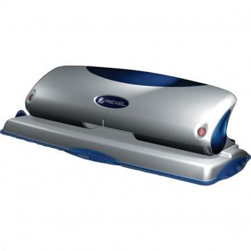 Perforatore Premium P425 a 4 fori Rexel argento/blu 2100754