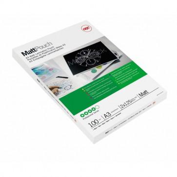Pouches per plastificatrici GBC 125 micron per lato A3 opaca 3747235 (conf.100)