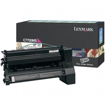 Originale Lexmark C7700MS Toner return program magenta