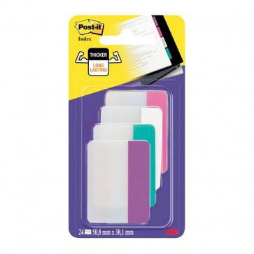 Post-it® Index Strong 686 Colore per archivio rosa, bianco, azzurro, viola 686-PWAVEU (conf.24)