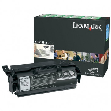 Originale Lexmark X651H11E Toner alta resa return program nero