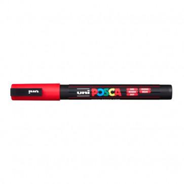 Marcatore Uni Posca a tempera Uni-Ball tonda 0,9-1,3 mm rosso M PC3M R