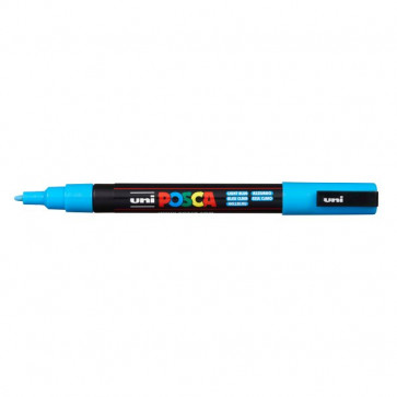 Marcatore Uni Posca a tempera Uni-Ball tonda 0,9-1,3 mm azzurro M PC3M AZ