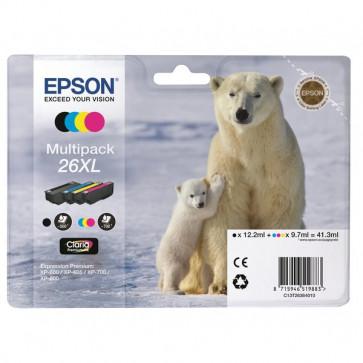 Originale Epson C13T26364010 Conf. 4 cartucce inkjet A.R. 26XL n+c+m+g