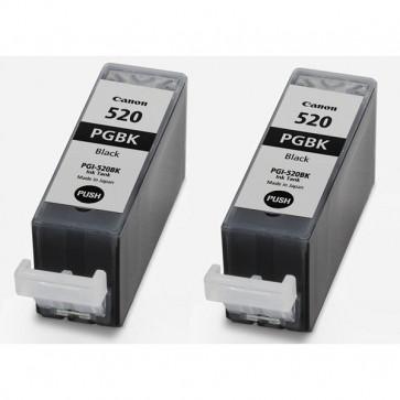 Originale Canon 2932B012 Conf. 2 serbatoi inchiostro PGI-520 BK nero