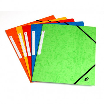 conf.10 Cartelline con elastico a 3 lembi colori assortiti brillanti 143831 5 Star