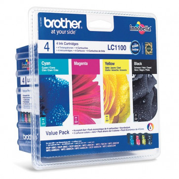 Originale Brother LC-1100VALBP Conf. 4 cartucce inkjet SERIE 1100 n+c+m+g