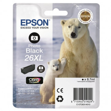 Originale Epson C13T26314010 Cartuccia inkjet A.R. 26XL nero foto