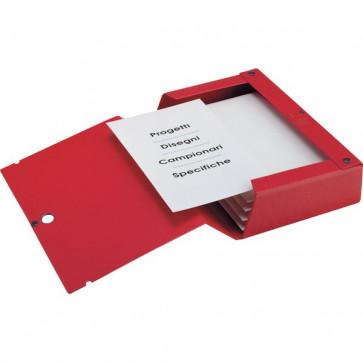 Cartelle portaprogetti Scatto Sei Rota Dorso 12 25x35 cm rosso 67901212